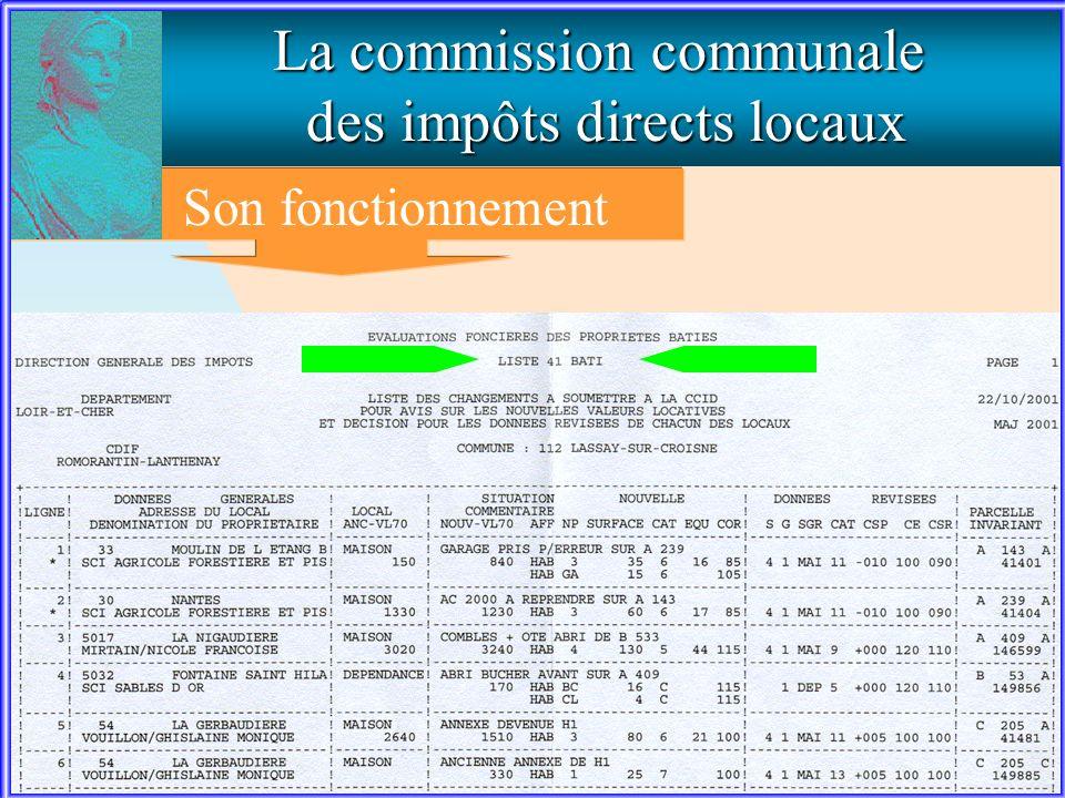La commission communale des impôts directs locaux