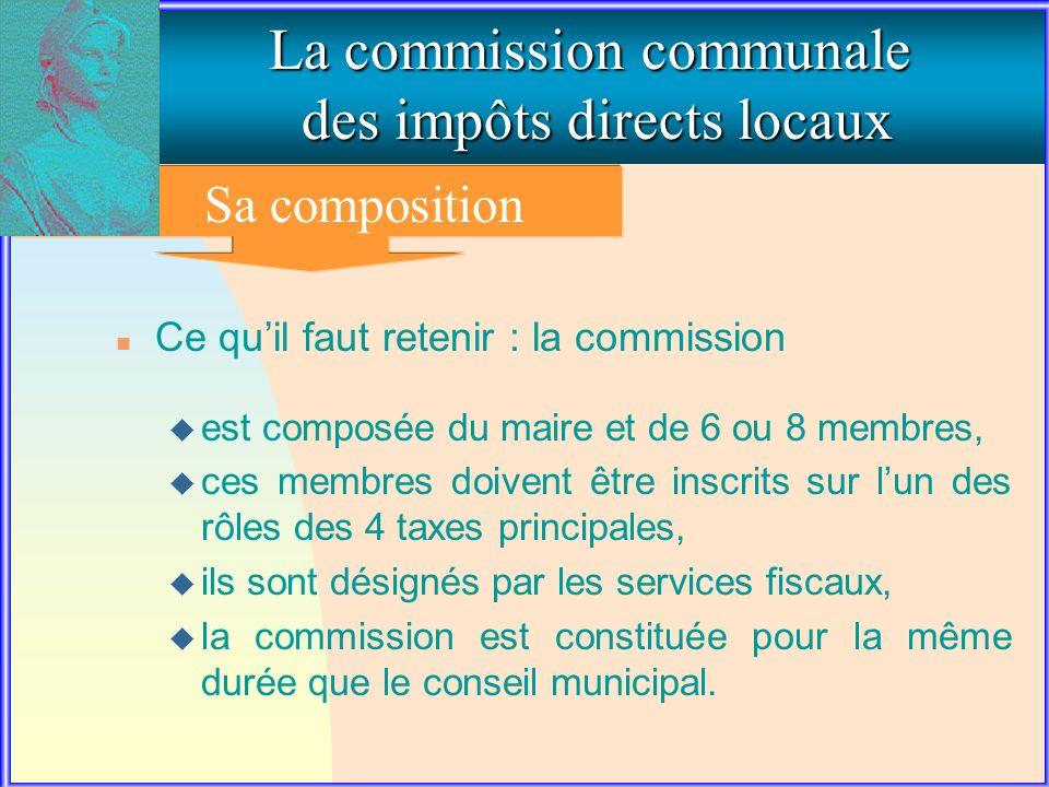 1. La composition de la commission communale