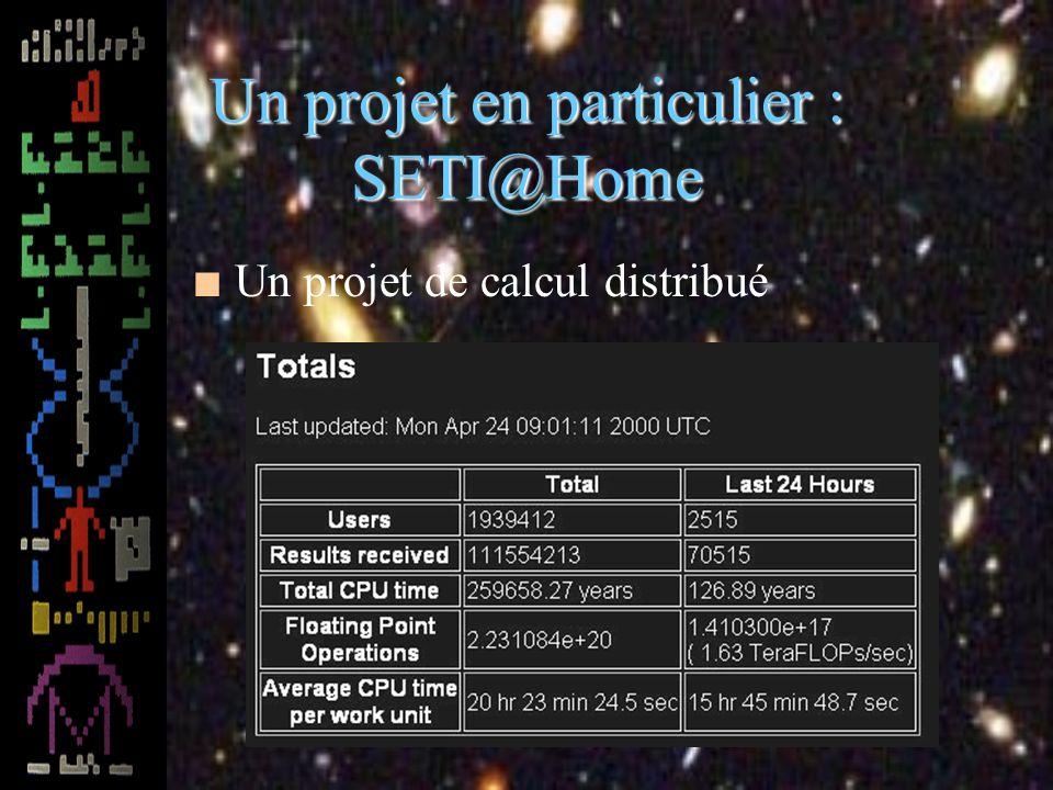 Un projet en particulier : SETI@Home