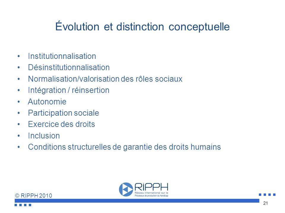 Évolution et distinction conceptuelle