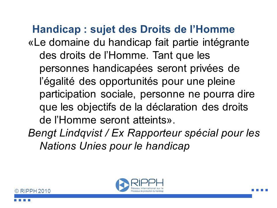 Handicap : sujet des Droits de l'Homme