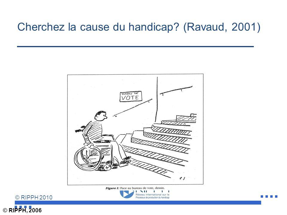 Cherchez la cause du handicap (Ravaud, 2001)