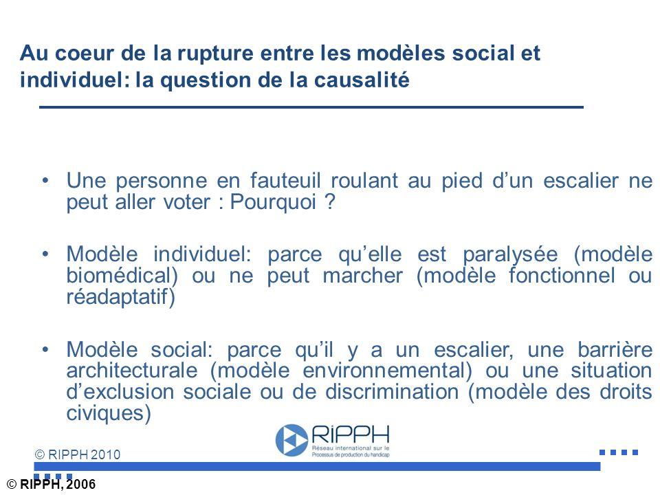 Au coeur de la rupture entre les modèles social et individuel: la question de la causalité