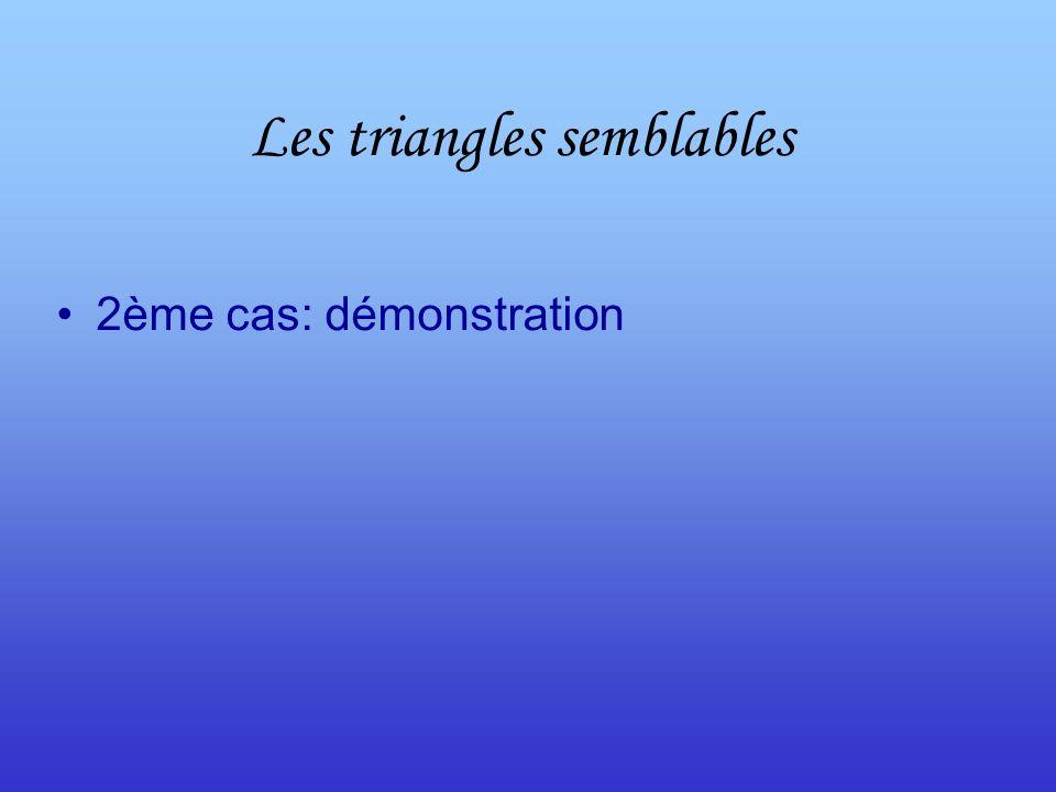 Les triangles semblables