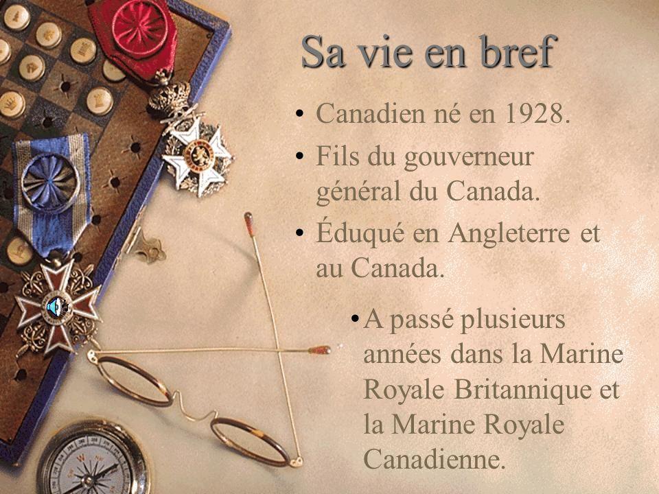 Sa vie en bref Canadien né en 1928.
