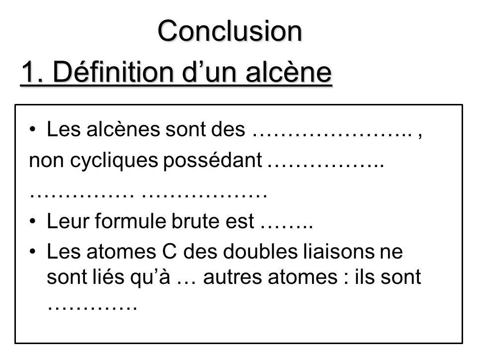 1. Définition d'un alcène