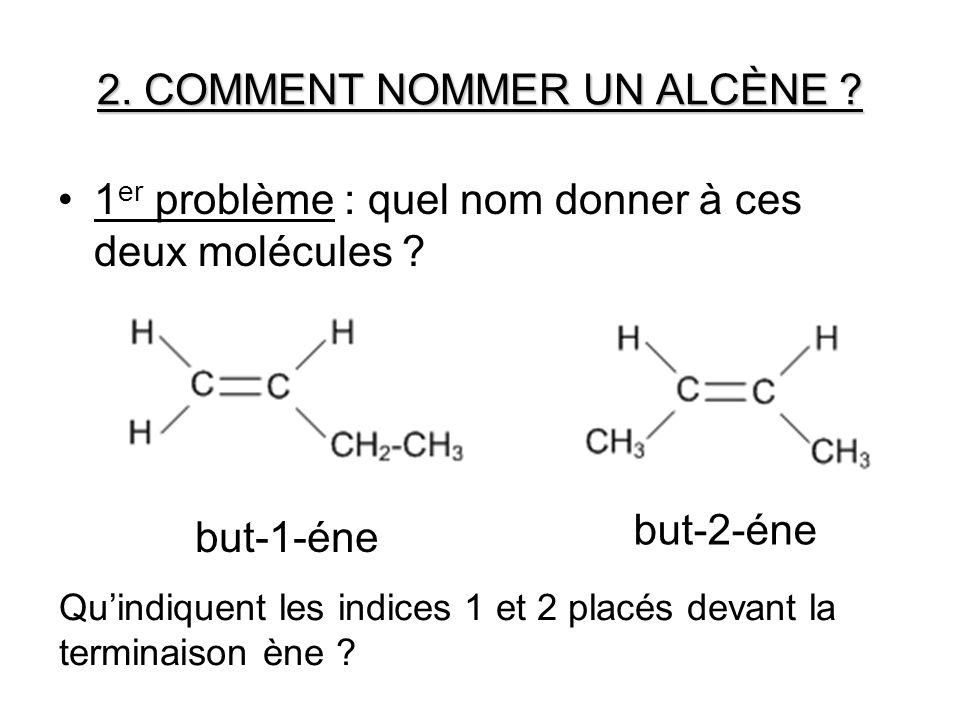 2. COMMENT NOMMER UN ALCÈNE