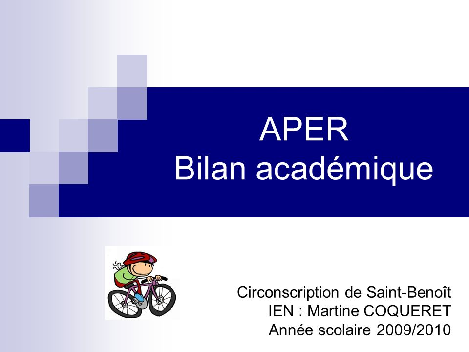 APER Bilan académique Circonscription de Saint-Benoît