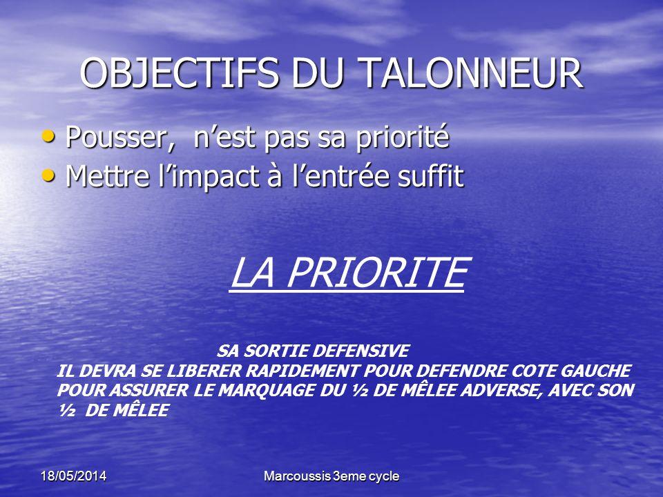 OBJECTIFS DU TALONNEUR