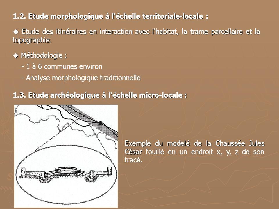 1.2. Etude morphologique à l échelle territoriale-locale :
