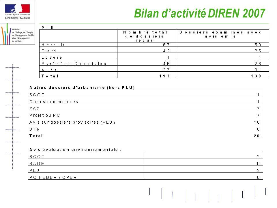 Bilan d'activité DIREN 2007
