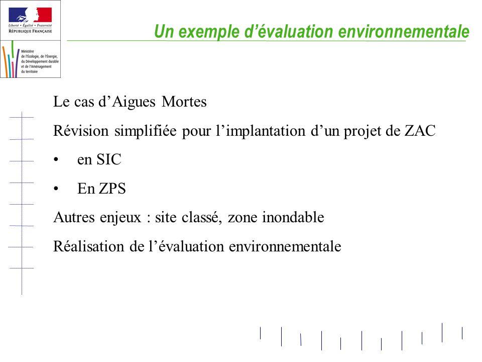 Un exemple d'évaluation environnementale