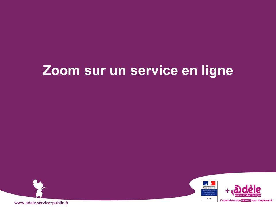 Zoom sur un service en ligne