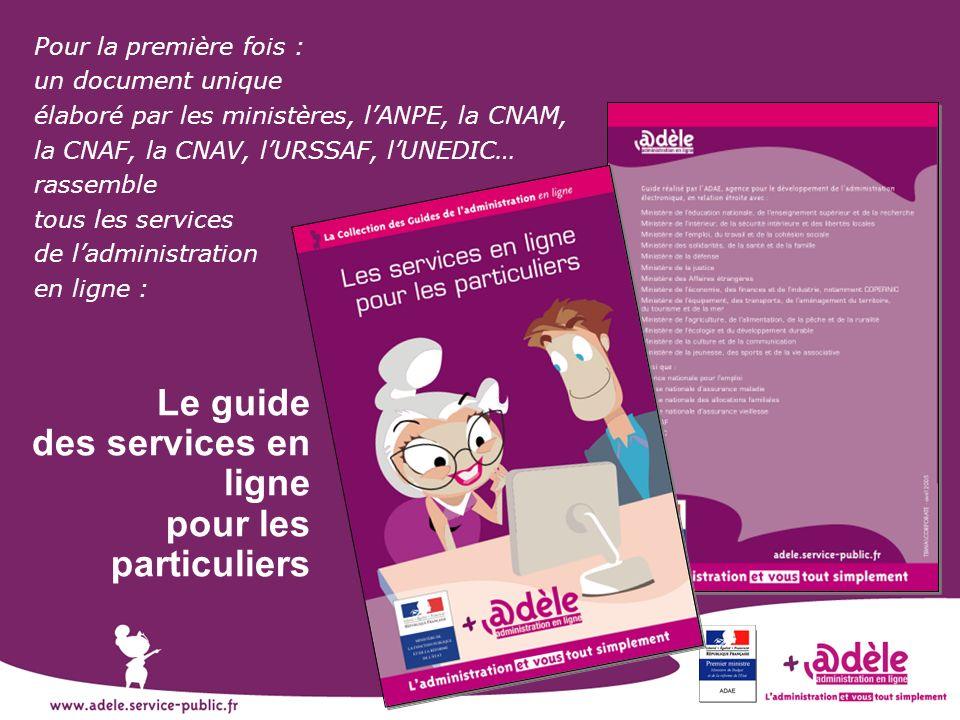 Le guide des services en ligne pour les particuliers