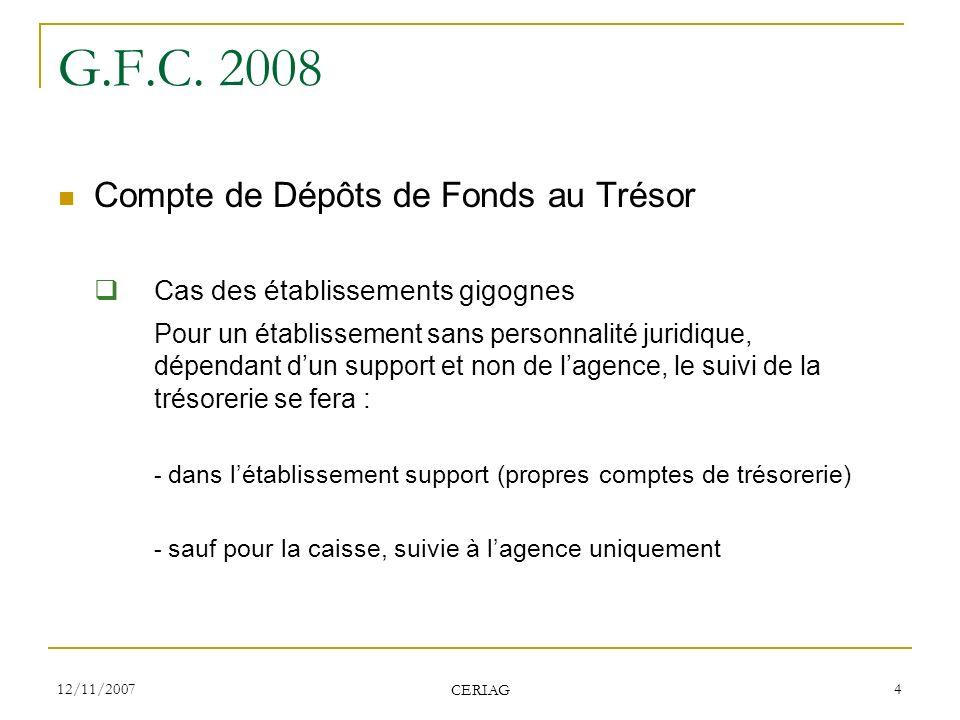 G.F.C. 2008 Cas des établissements gigognes