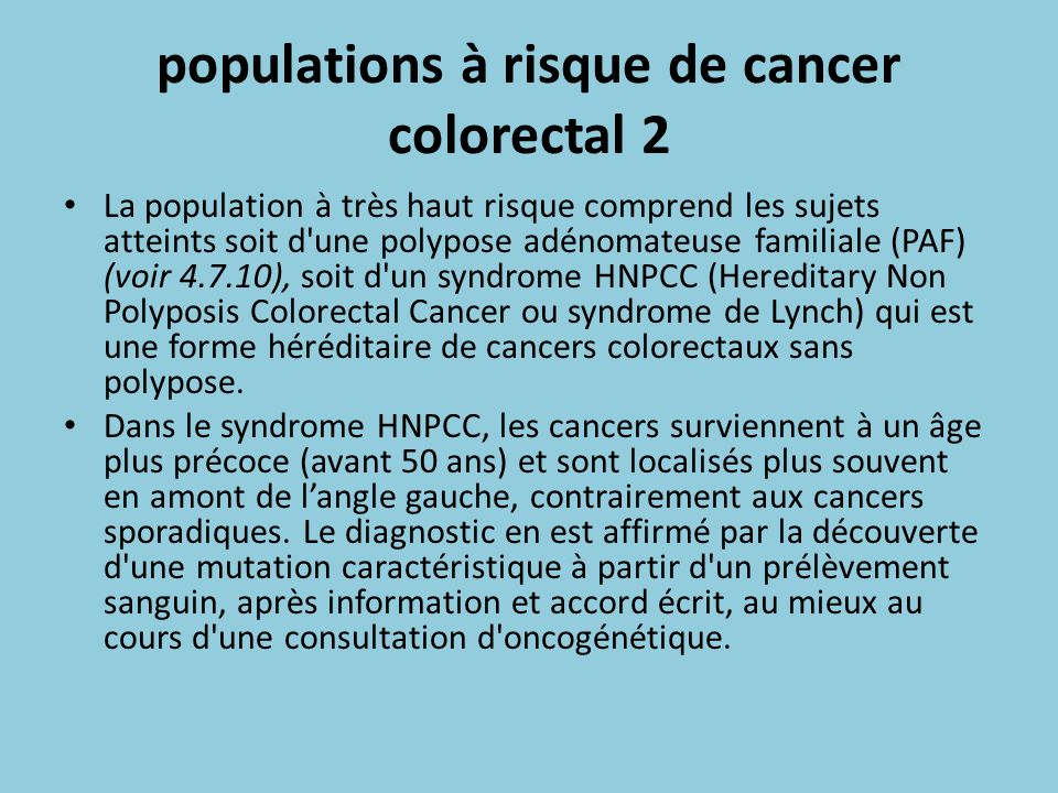populations à risque de cancer colorectal 2