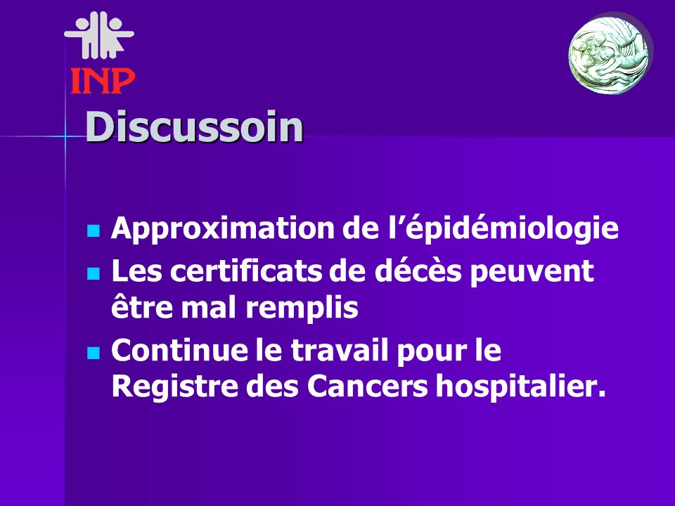 Discussoin Approximation de l'épidémiologie