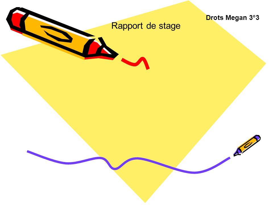Drots Megan 3°3 Rapport de stage