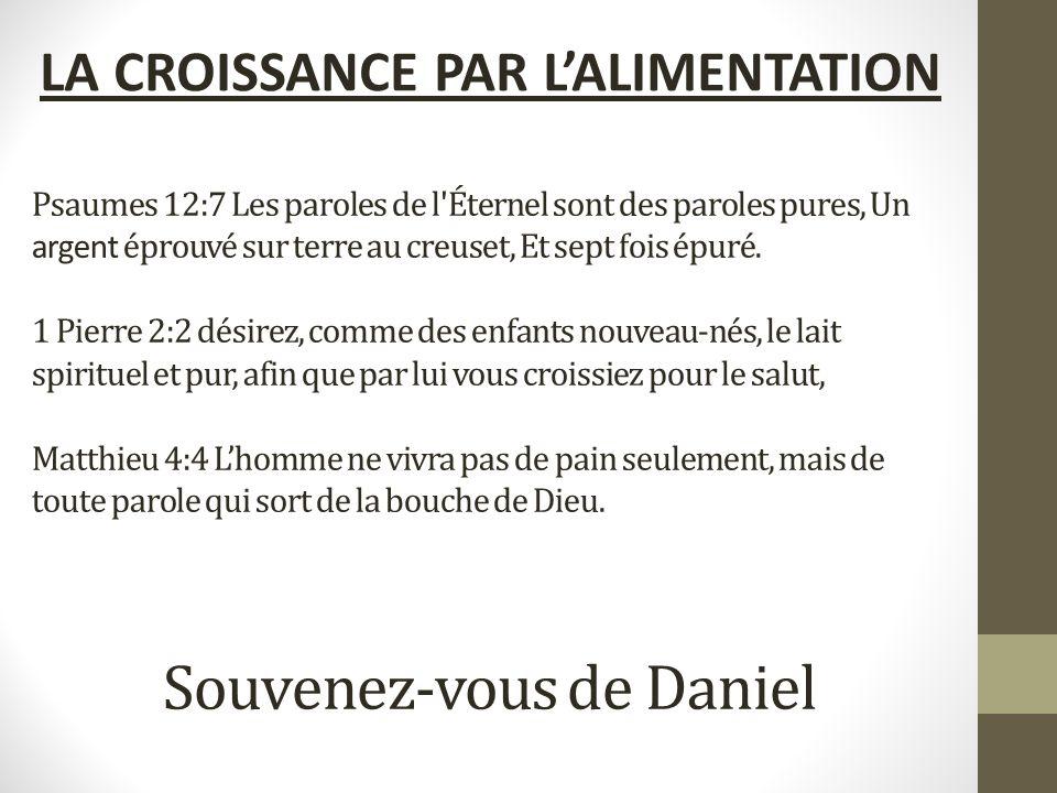 LA CROISSANCE PAR L'ALIMENTATION