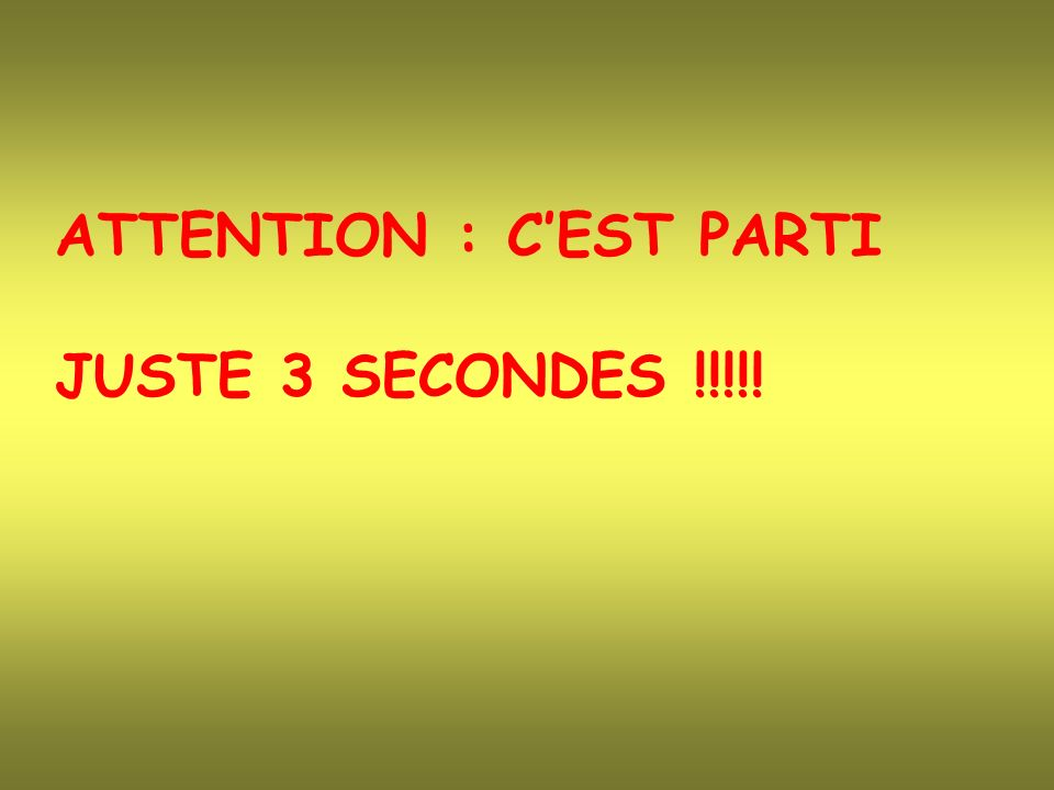 ATTENTION : C'EST PARTI