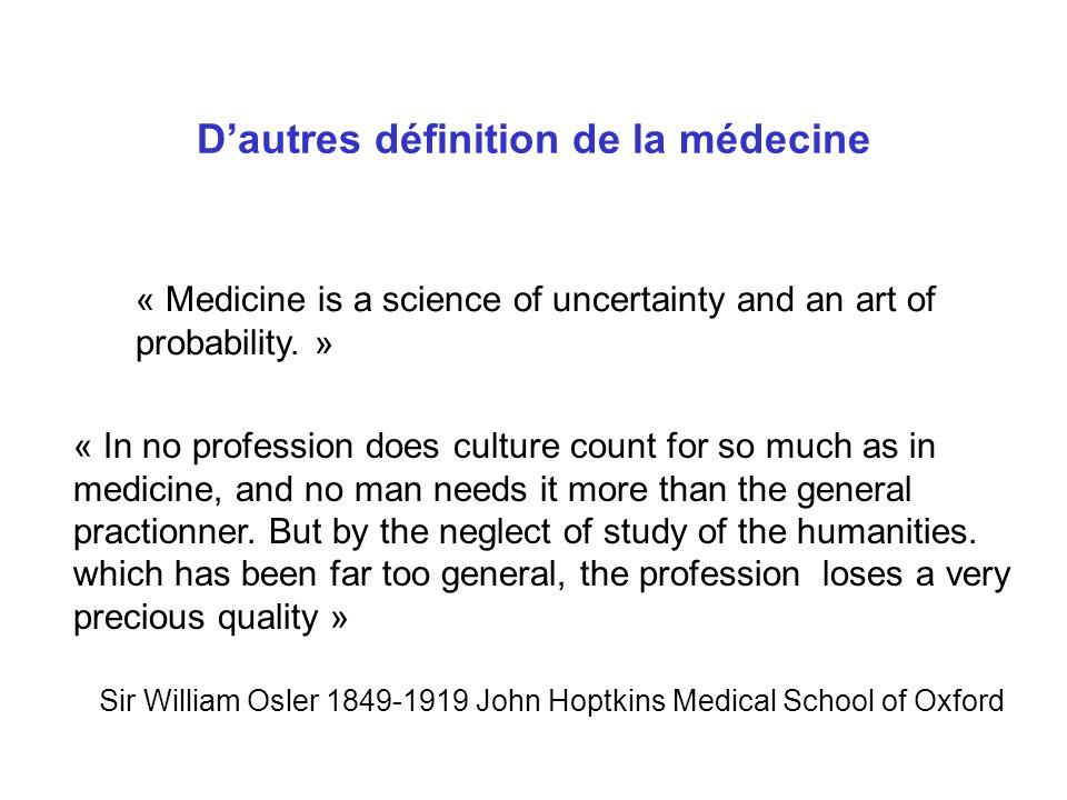 D'autres définition de la médecine