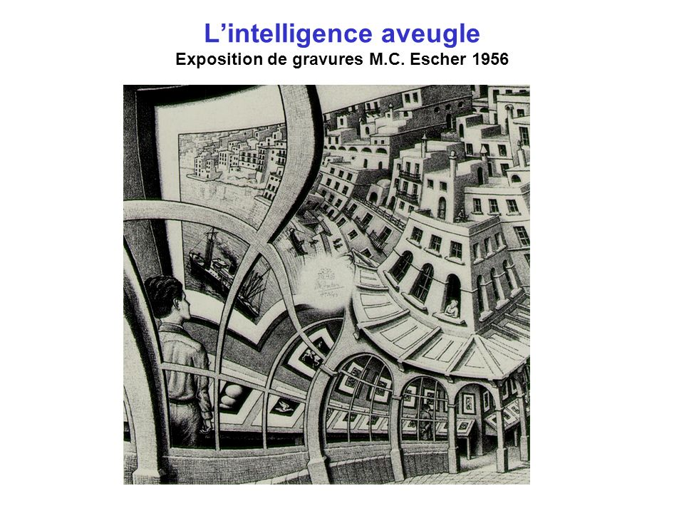 L'intelligence aveugle Exposition de gravures M.C. Escher 1956