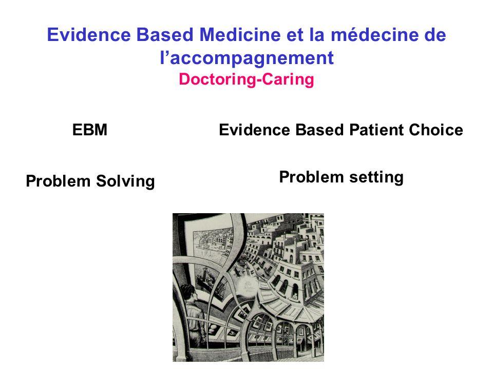 Evidence Based Medicine et la médecine de l'accompagnement Doctoring-Caring