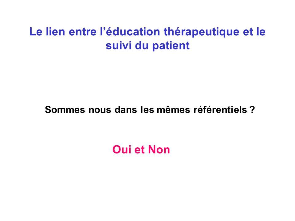 Le lien entre l'éducation thérapeutique et le suivi du patient