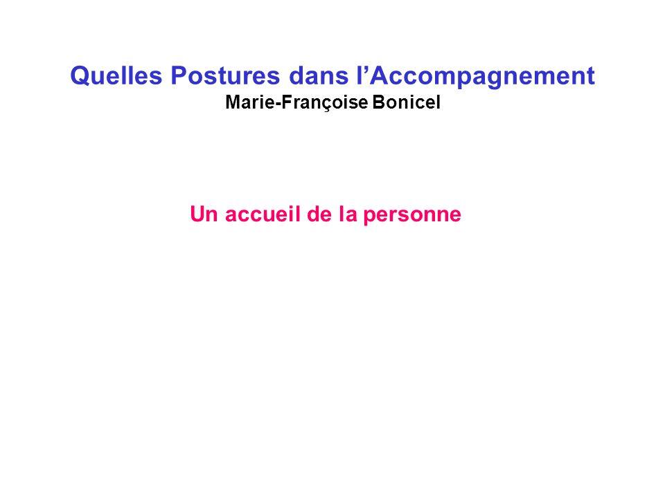 Quelles Postures dans l'Accompagnement Marie-Françoise Bonicel