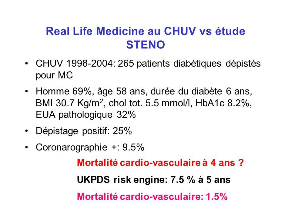 Real Life Medicine au CHUV vs étude STENO