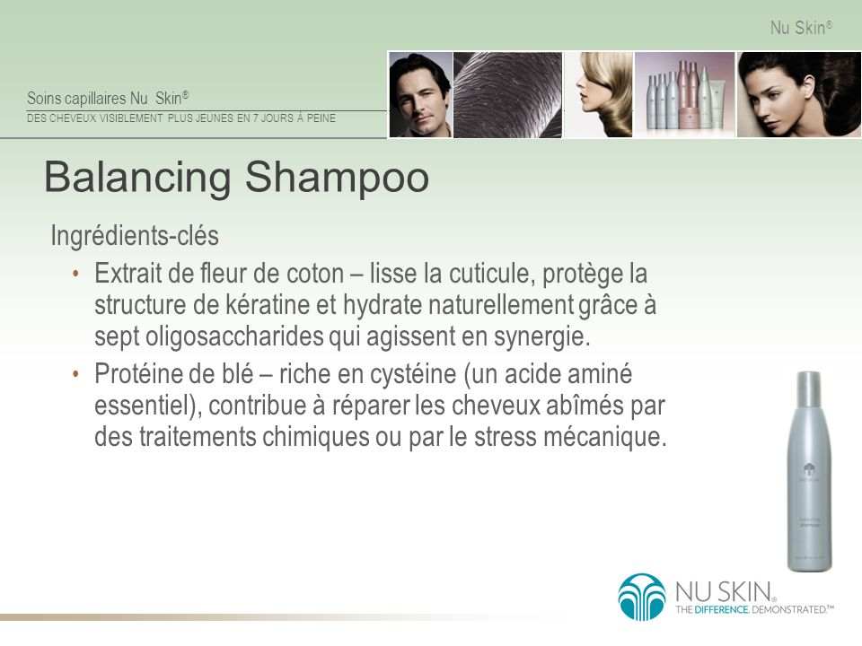 Balancing Shampoo Ingrédients-clés