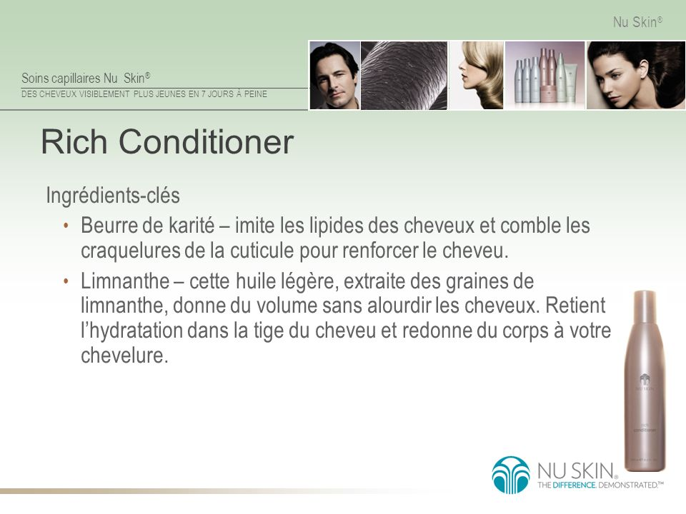 Rich Conditioner Ingrédients-clés