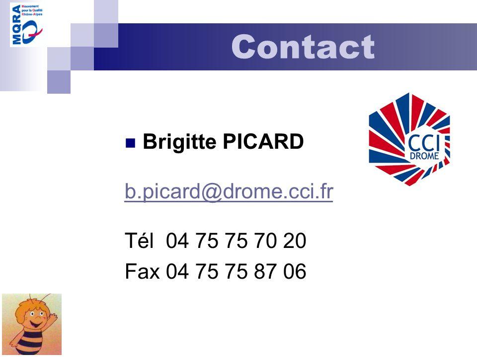 Contact Brigitte PICARD b.picard@drome.cci.fr Tél 04 75 75 70 20