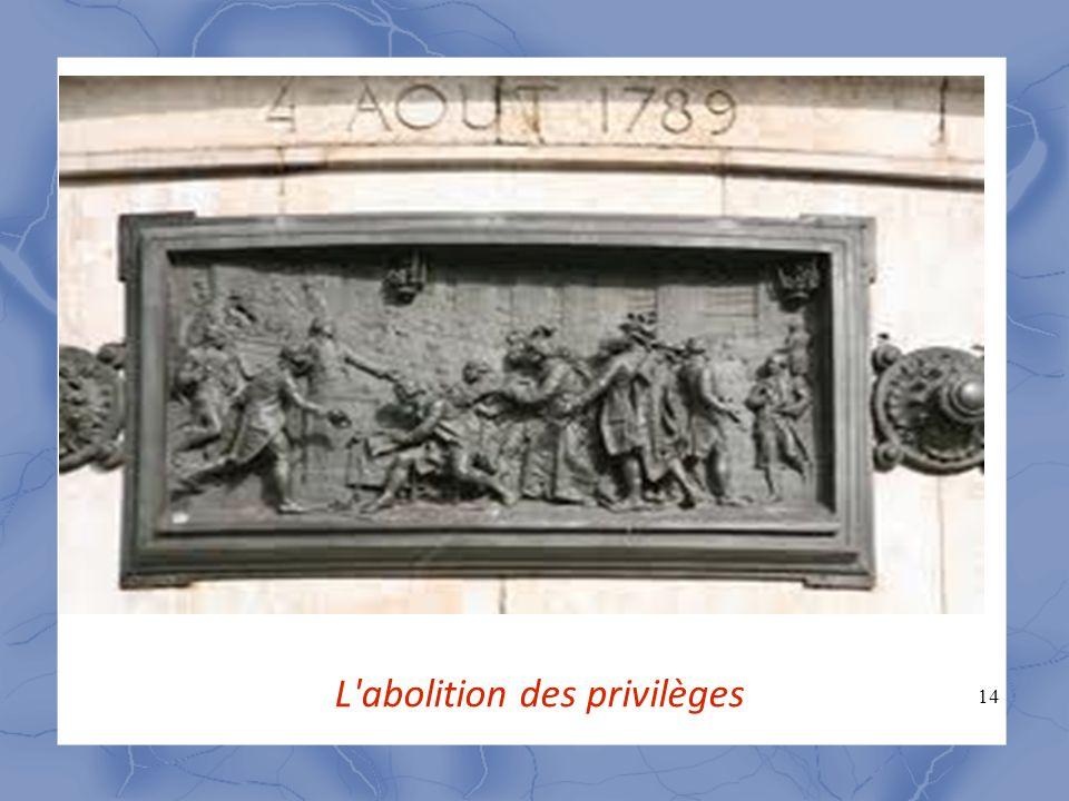 L abolition des privilèges