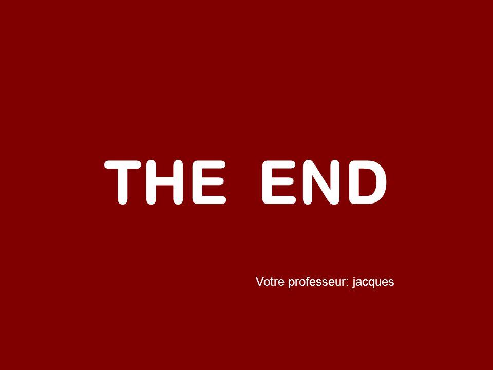 THE END Votre professeur: jacques