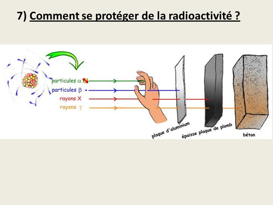 7) Comment se protéger de la radioactivité