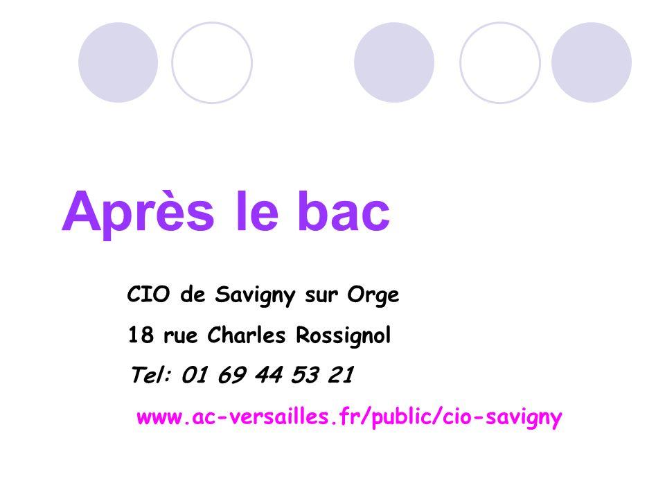 Après le bac CIO de Savigny sur Orge 18 rue Charles Rossignol