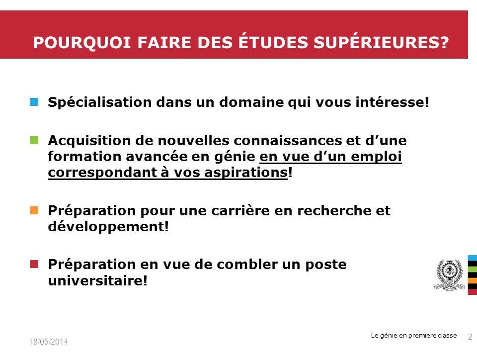 POURQUOI FAIRE DES ÉTUDES SUPÉRIEURES