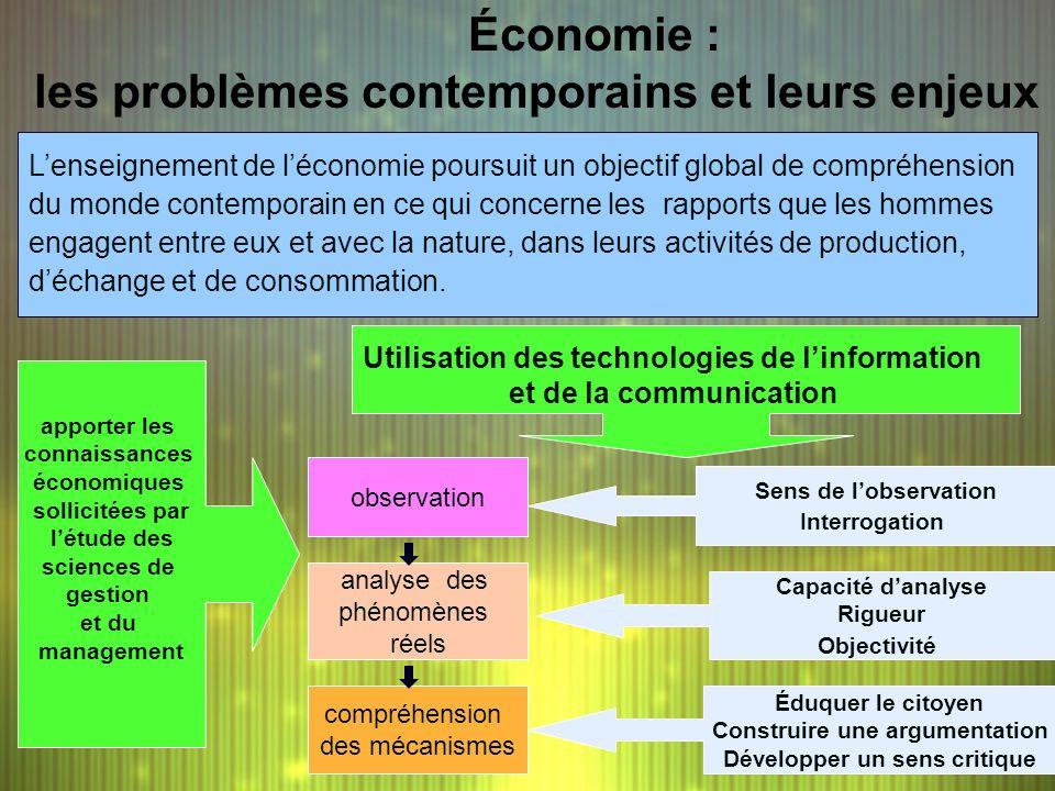 Économie : les problèmes contemporains et leurs enjeux