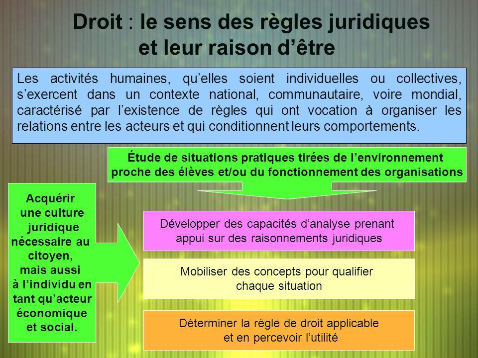 Droit : le sens des règles juridiques et leur raison d'être