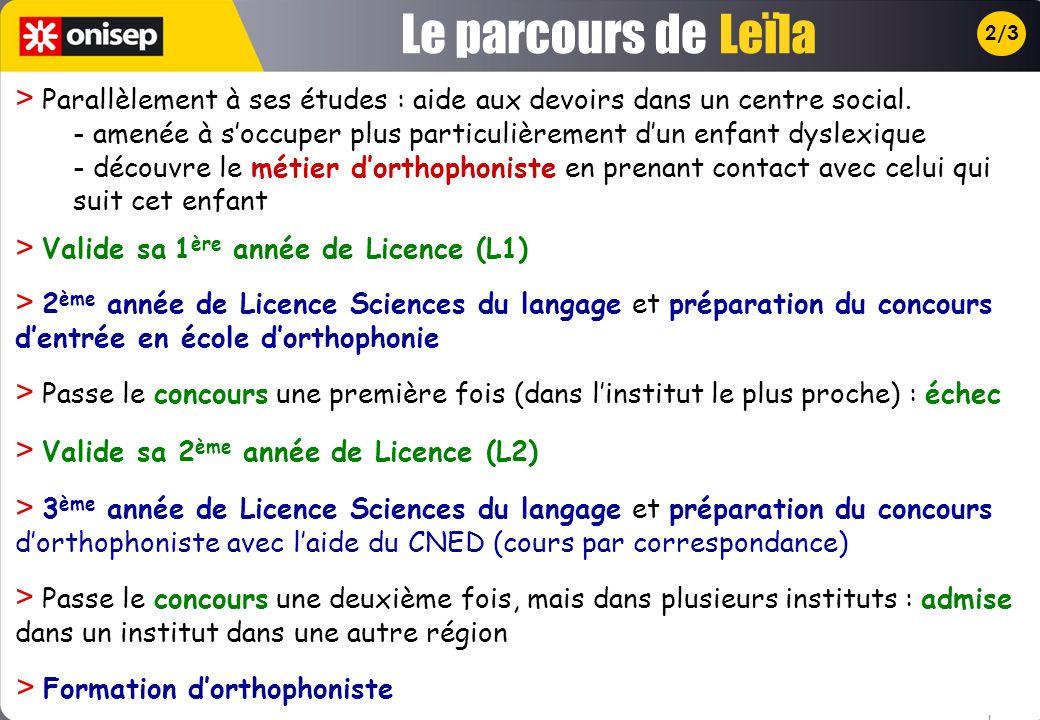 Le parcours de Leïla. 2/3.