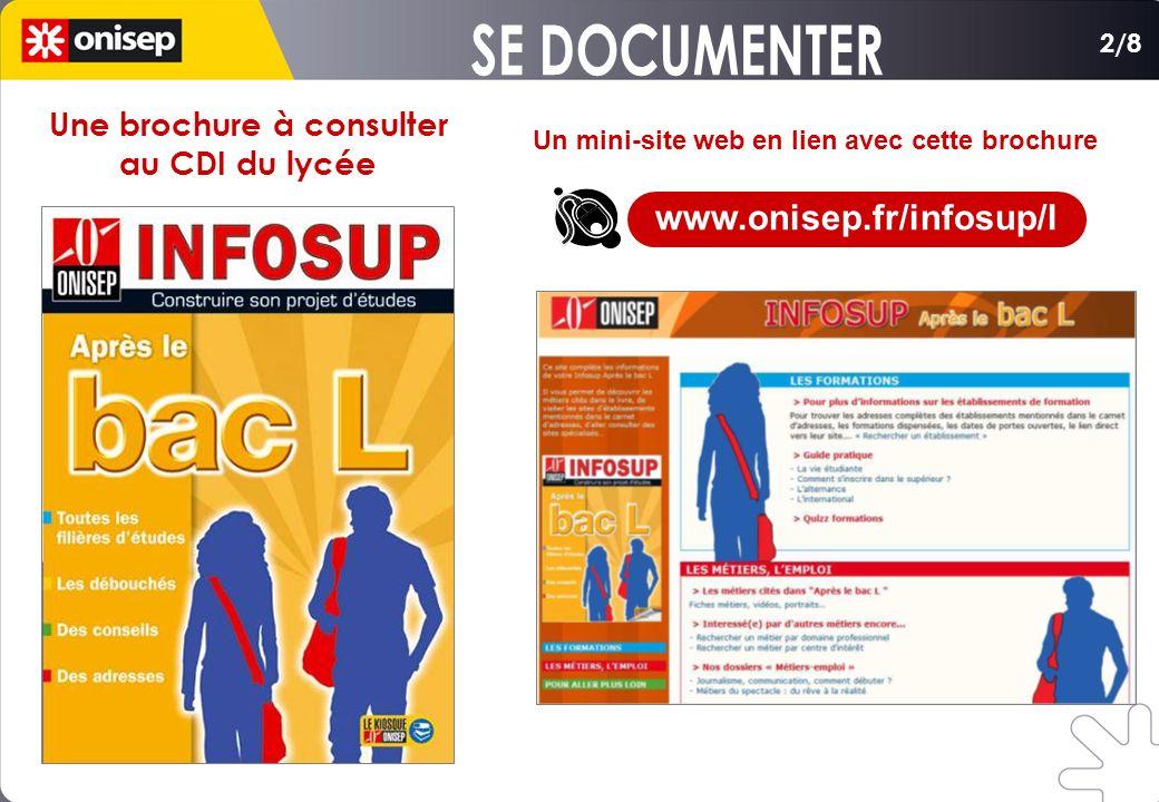Une brochure à consulter Un mini-site web en lien avec cette brochure