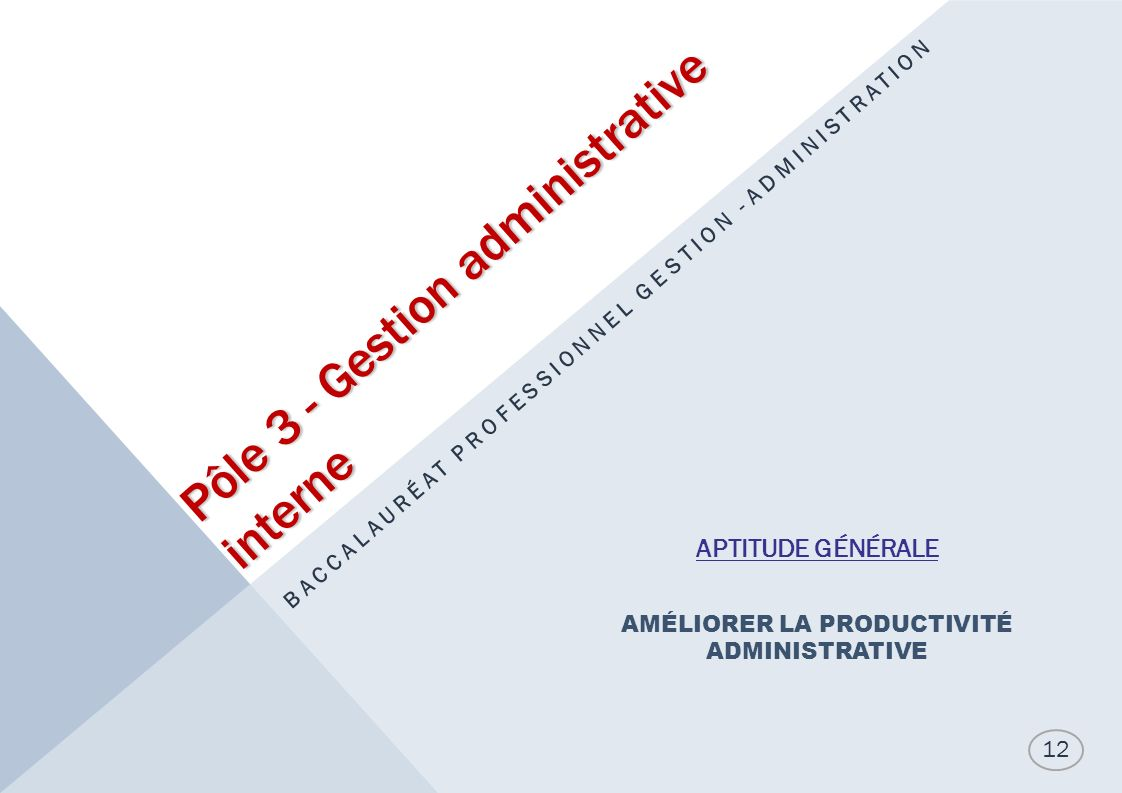 Pôle 3 - Gestion administrative interne