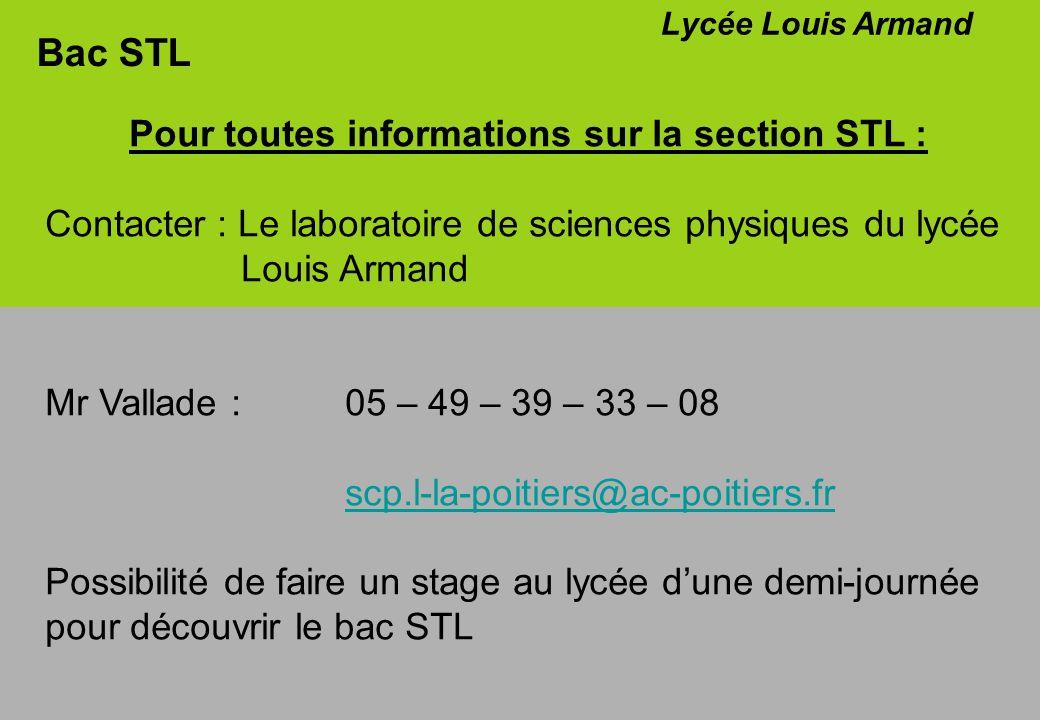 Pour toutes informations sur la section STL :
