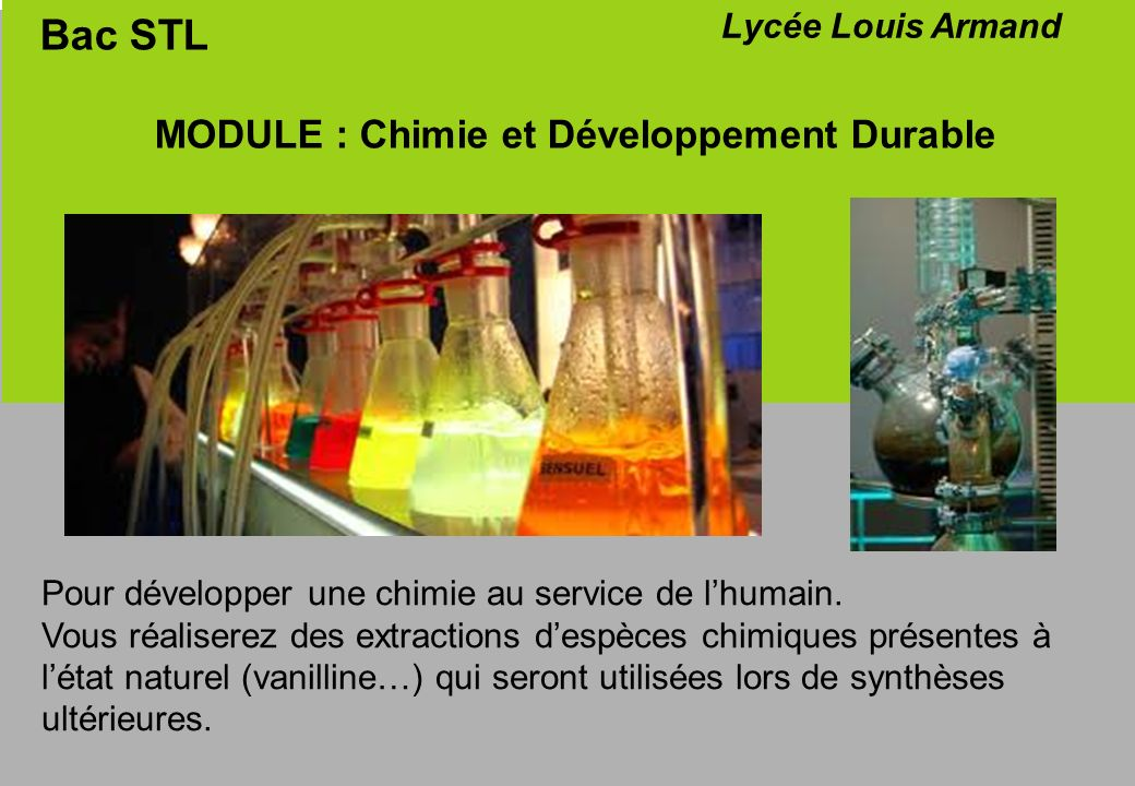 MODULE : Chimie et Développement Durable