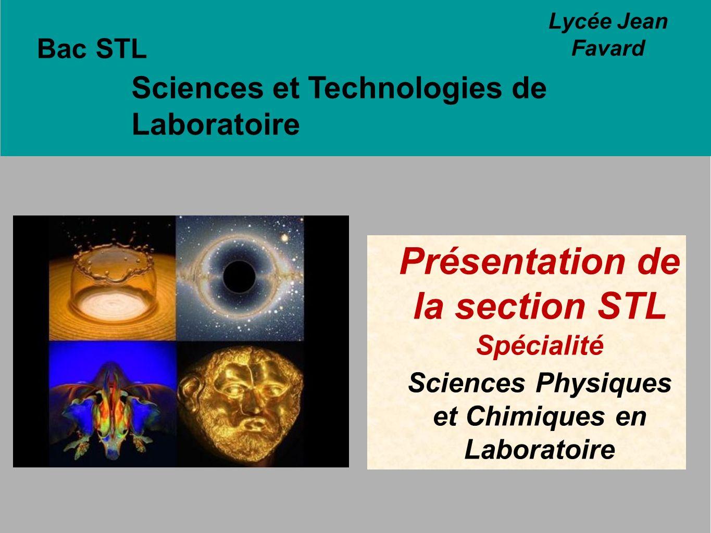 Présentation de la section STL Spécialité