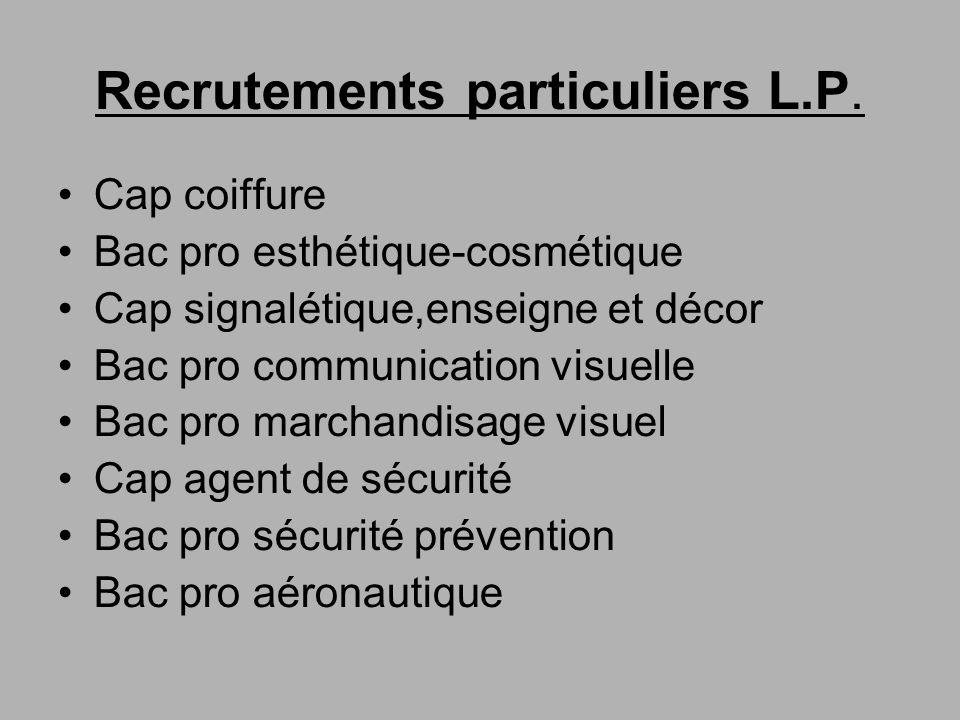 Recrutements particuliers L.P.