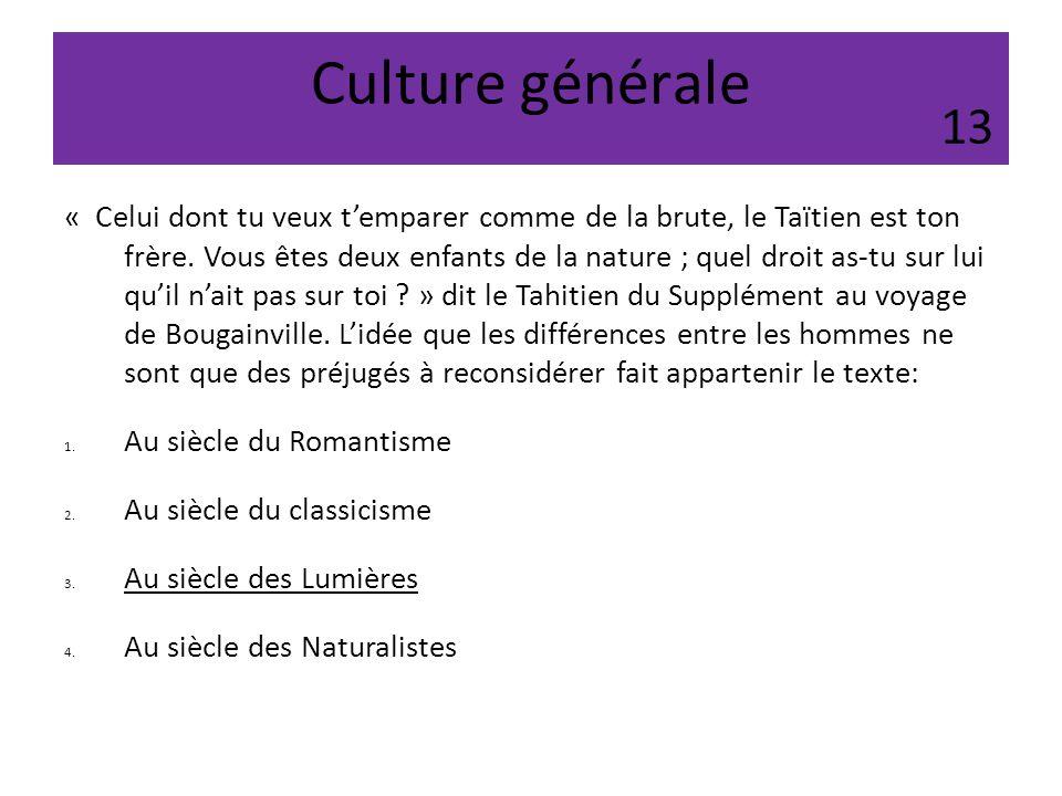 Culture générale 13.