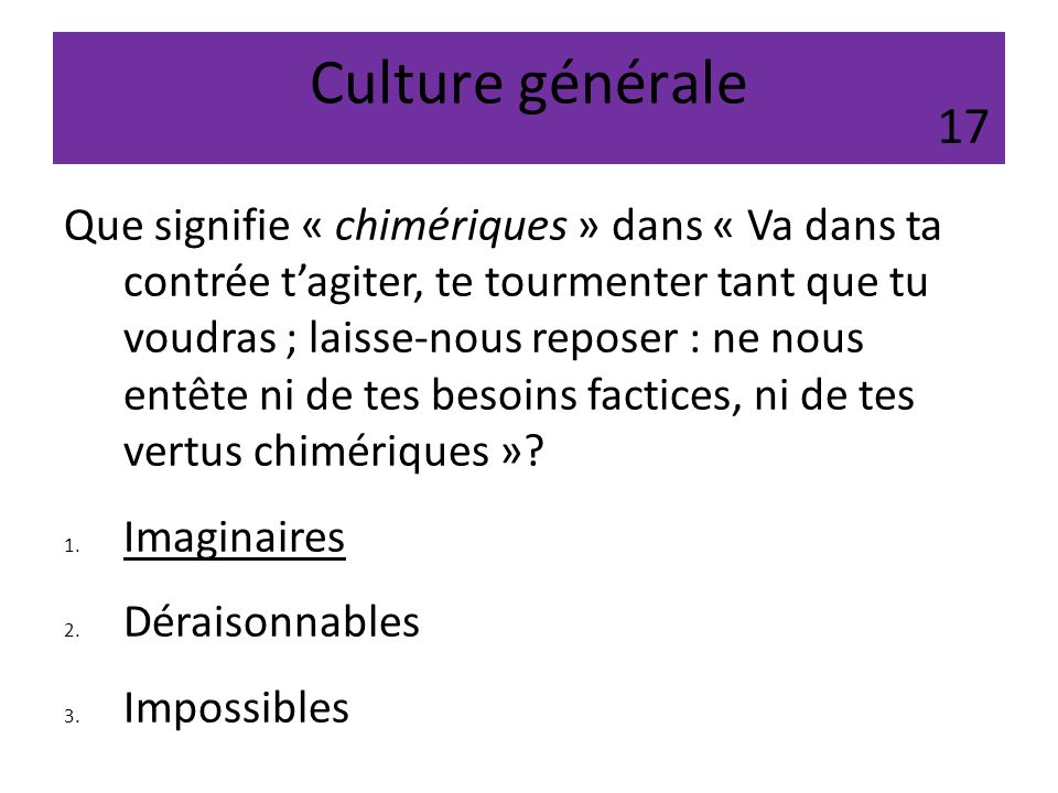 Culture générale 17.