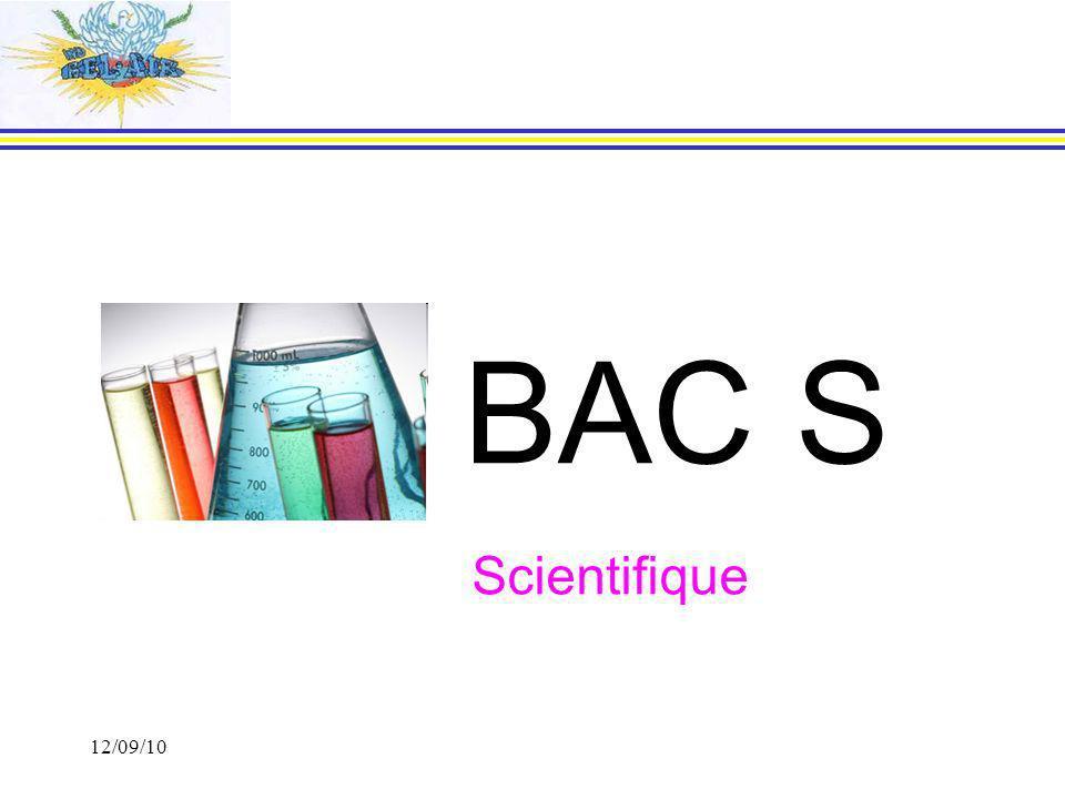 BAC S Scientifique 12/09/10 12